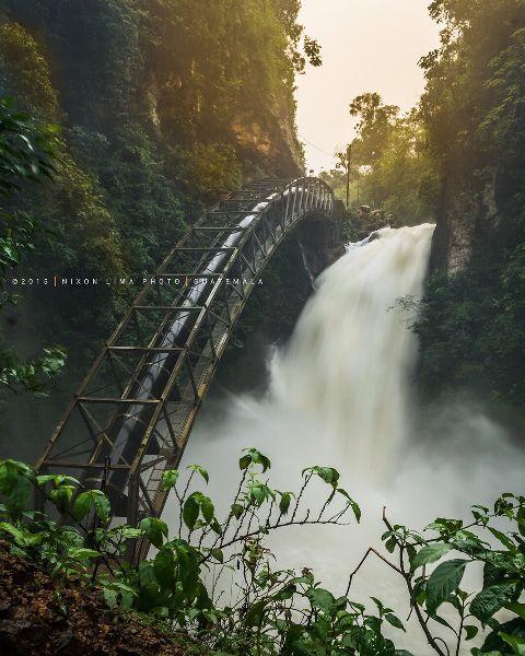 guatemala interesting nature travel waterfall