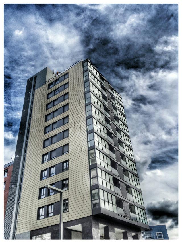 #architecture  #building #donostia #clouds