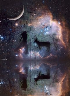 wapstarrysky wapmystical darkart beautifypicsart fantasy