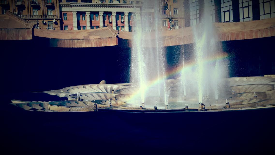 #armenia   #yerevan  #autumn #fountain #rainbow #beauty