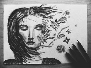 wapblackandwhite blackandwhite pencilart drawing