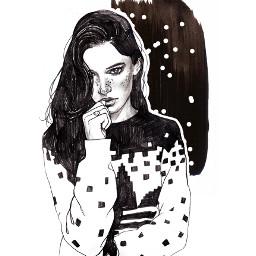 illust illustration drawing draw pencil pencilsketch sketch face beauty fashionillustration art artwork warercolor hair adidas