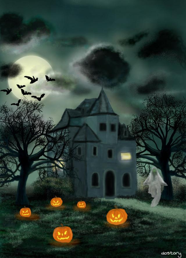 #drawing #night #halloween #happyhalloween