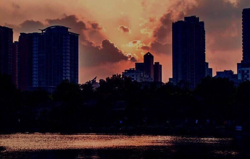 #urban #park #sunset #