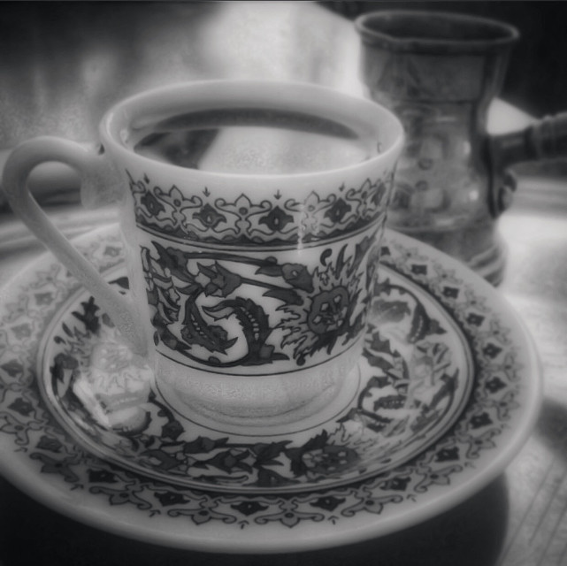 my cam ❤️ good morning 🌹  #black&white #coffee