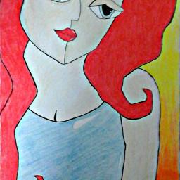 paint painting pencil art girl