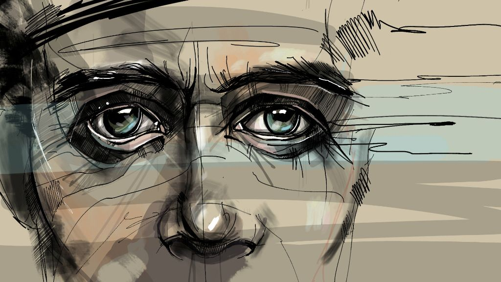 eyes digital drawing