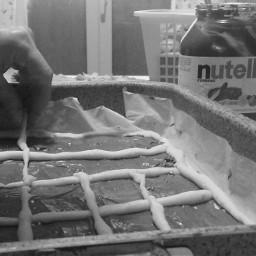 blackandwhite nutella