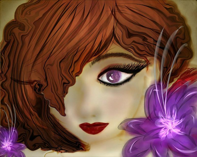 #wdpeyes #face #flower #lavender #drawing #warp tool Drawing process http://picsart.com/i/185668616001202