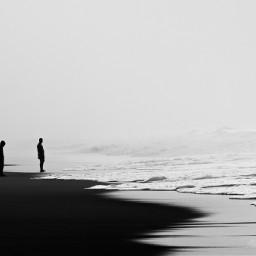 silhouette sea beach environment fantasy