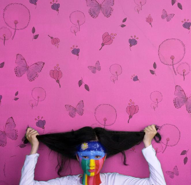 Painting lady #painting #pink #fullcolour #portrait #wallart  #popart  #colorful  #picsart #madewithpicsart