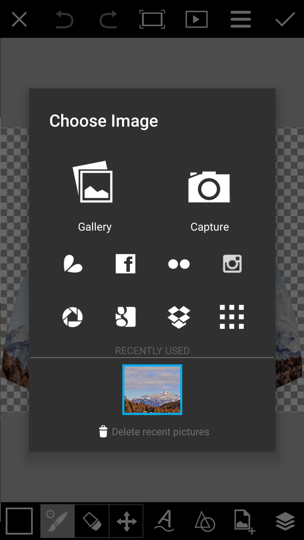 select photo to draw on