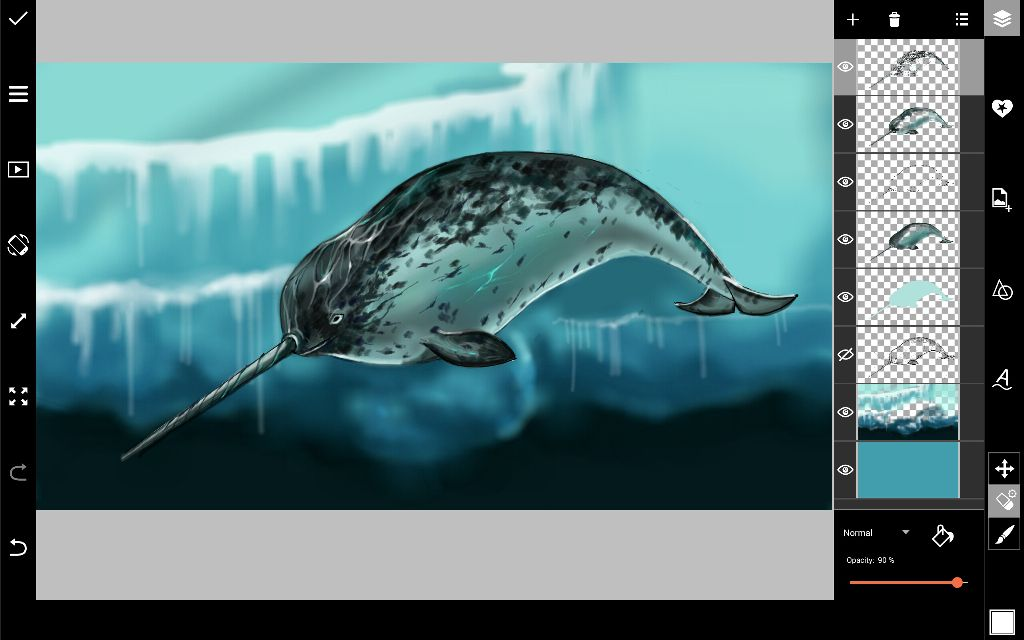 narwhal drawing  textures