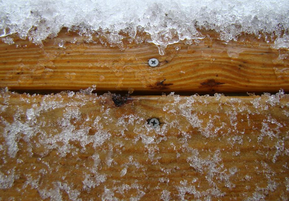 #cold   #ice #wood