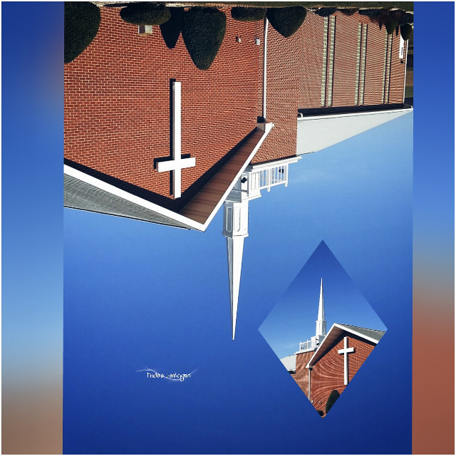 #upsidedown #church #architecture #steeple #cross #dodger #photography #galaxys5