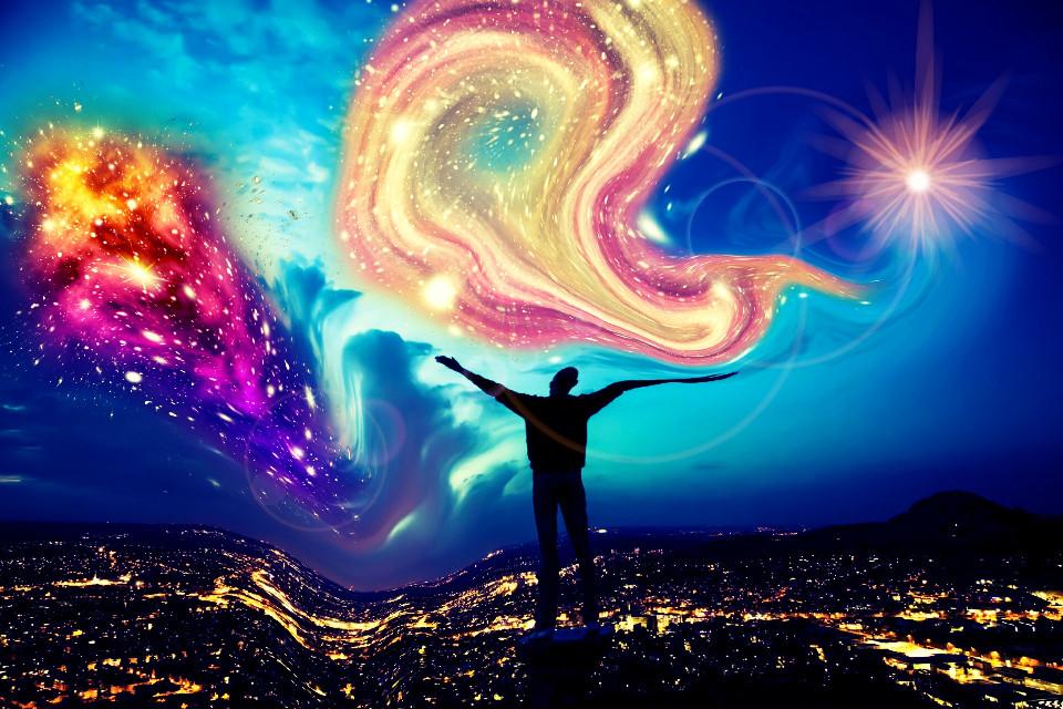 #wapstarrysky #  #swirls #freetoedit  # colors  # people #  #man #  #city #