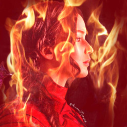 katniss everdeen fire hungergames hg