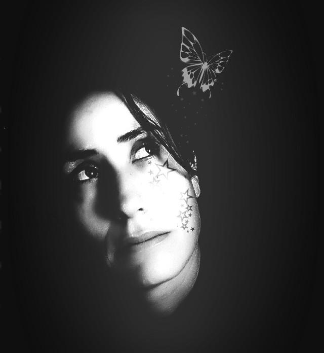 #emotions #blackandwhite #mood #me  #artisticselfie #interesting  #hope #reflexion #thinking #tattoo  #selfieShadow