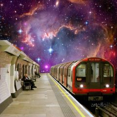 londontube galaxy collage