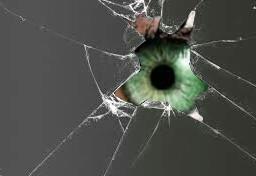eye eyes brokenglass iamwatchingyou