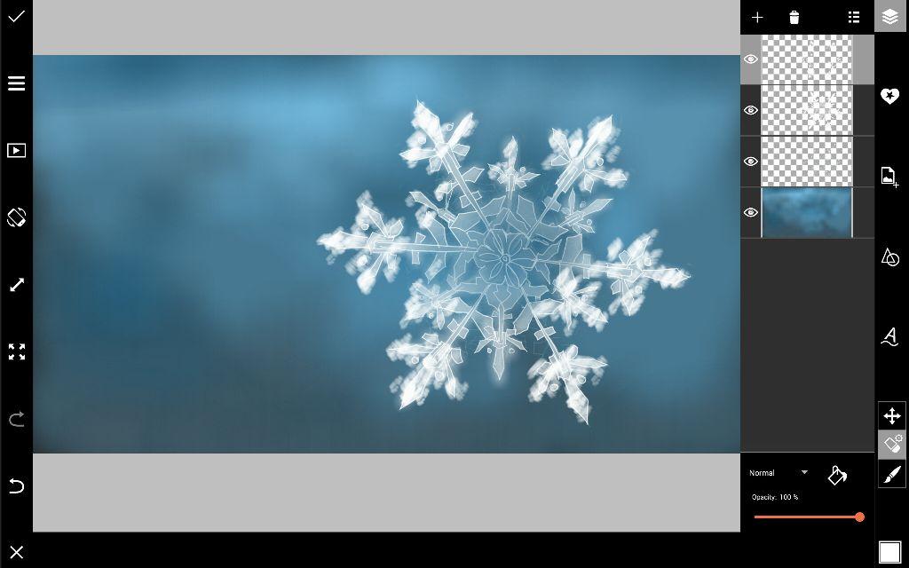draw snowflake details