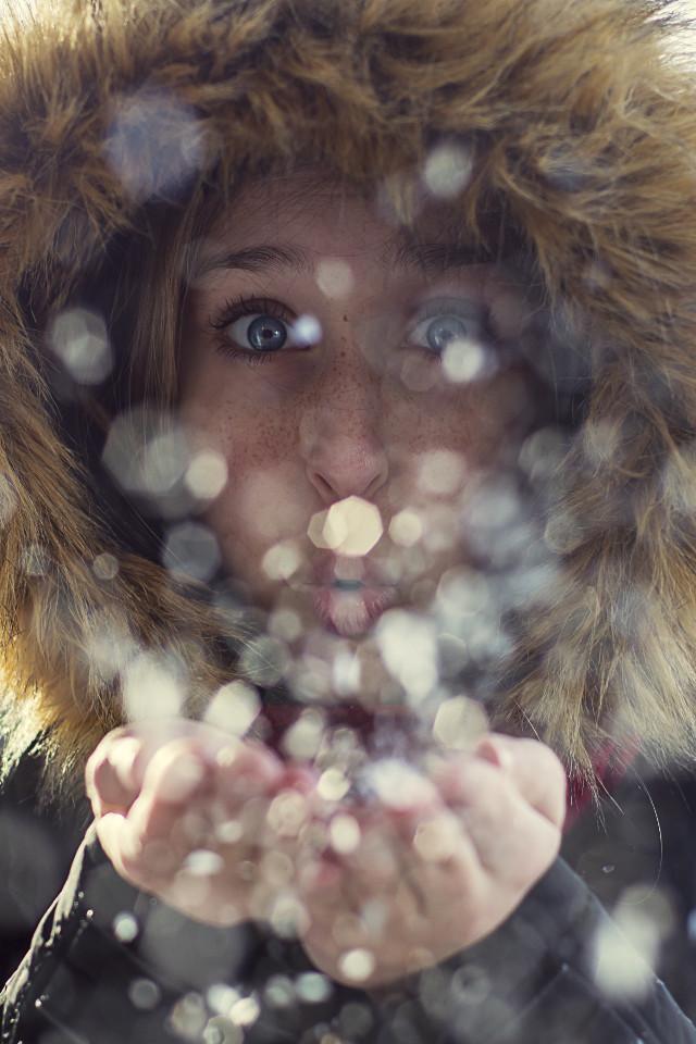 #bokeh #snow #blueeyes