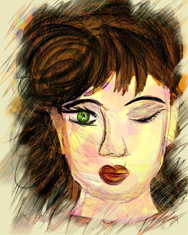 #drawing #digitaldrawing #girl #face #abstract #shapes Inspired by some of the amazing artworks of my dear friend jackie @killerdiller5