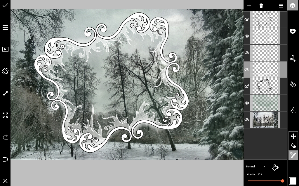 frosted border inside frame