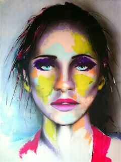 portrait colors abstract dailyinspiration painting