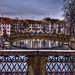 italy treviso bridges canal architecture