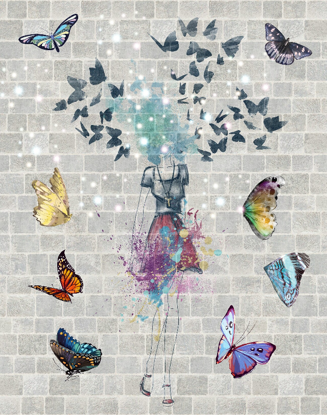 #butterflies #colors #butterfly #emotions  #freedom #madewithpicsart  #clipart  #wall