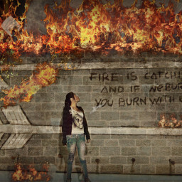 picsart fire hunger_games photography