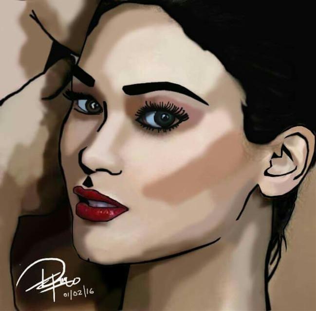 Pia Alonzo Wurtzbach's portrait in #DigitalPainting. #MIssUniverse #MissPhilippines #ConfidentlyBeautifulWithAHeart