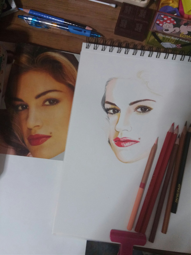 #drawing #coloredpencils#Cindy Crowford