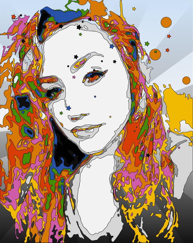 My girl💖 #colorful #style #art #psychedelic #artisticselfie #undefined
