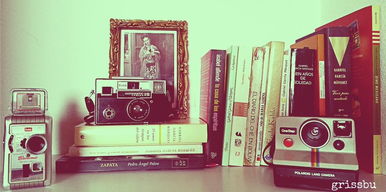 #vintageEffect #photography #ilovecameras#books #freetoedit #frida