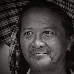 portrait oldman thailand