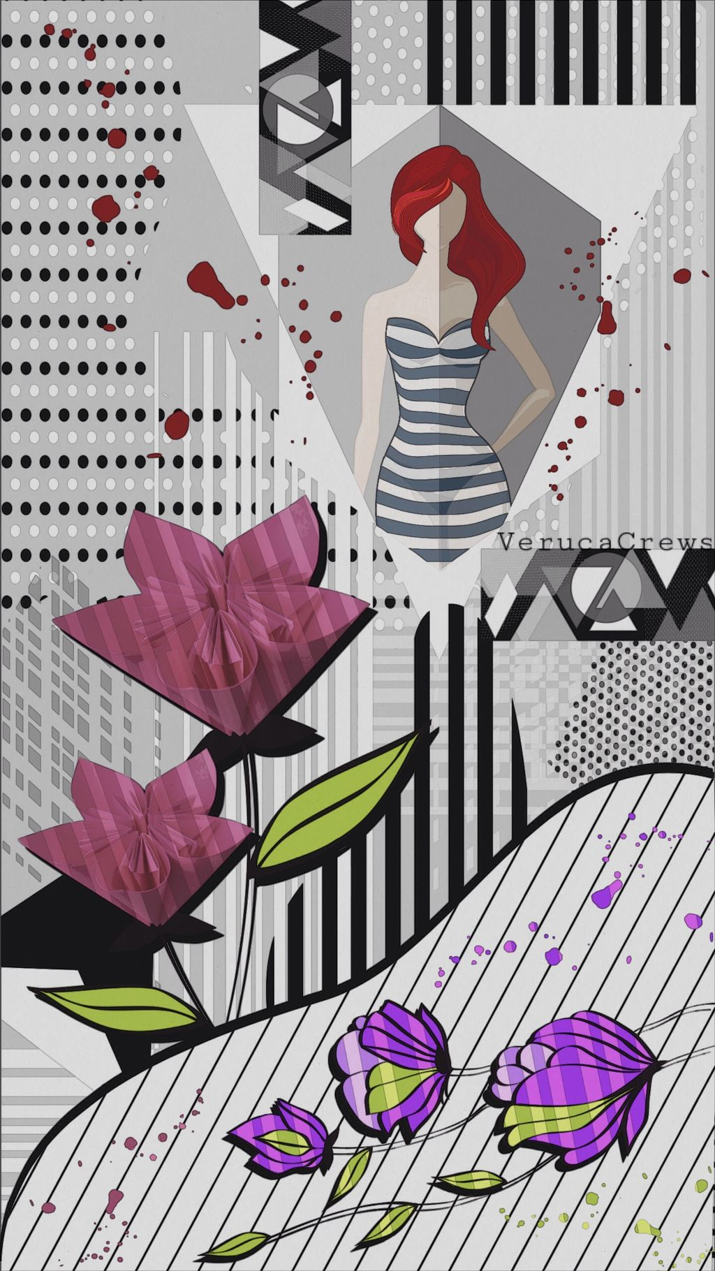 #art #abstract #paperart #drawing #blackandwhite #colorful #collage
