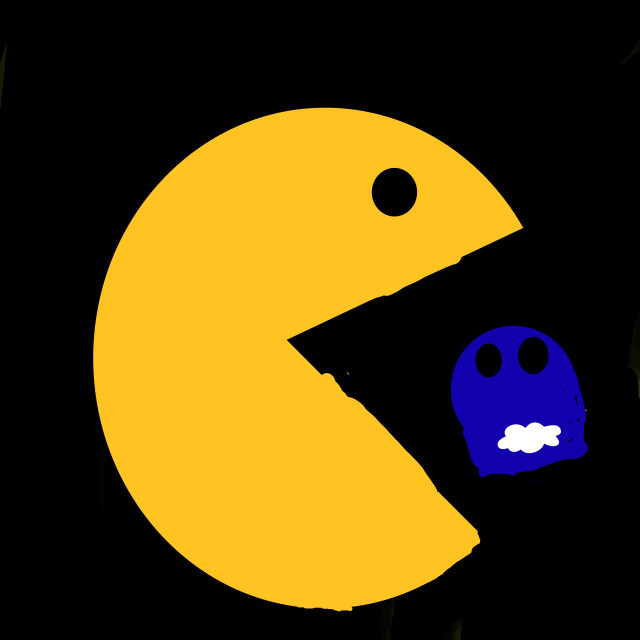 #pacman #ghost my bro did it and its cute