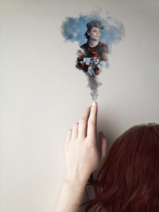 Edit to @bestecrc & @meniqwidya for #ftefashion > #freetoedit #wigs #smoke