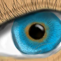 drawing eye blue