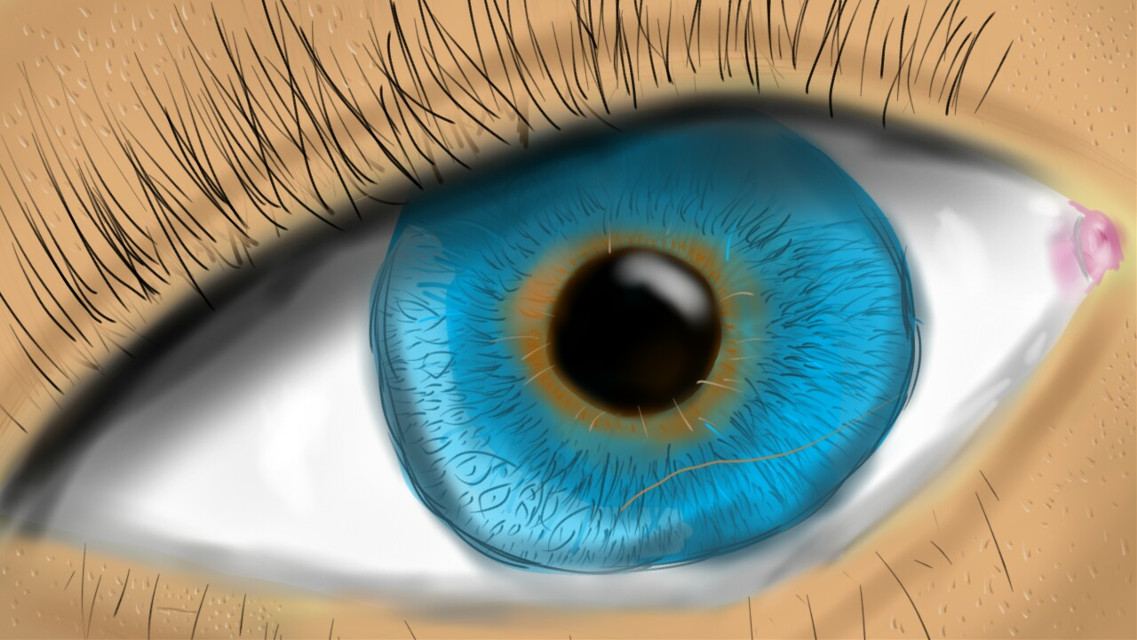 #drawing  #eye #blue  I did not draw this on picsart I did this on a different app but I wanted to see if you guys liked it😘😊