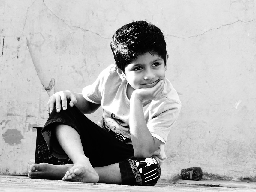 Smile atleast 1 unknown person a day so that he may recover his/her sadness and start thinking who the F*UCK was he... :-P :-P :-P #candid pic # my cousin...