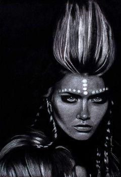 art drawing blackandwhite fashion woman