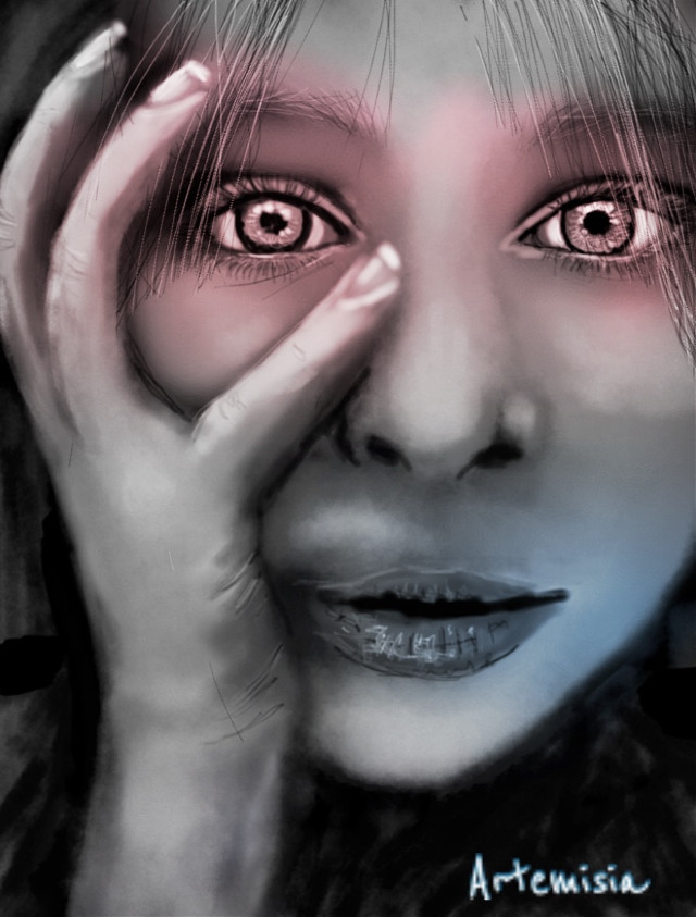 Oh my God.... How can you say that? #wdpwomenportraits #drawing #girl #emotions #digitalart references in web