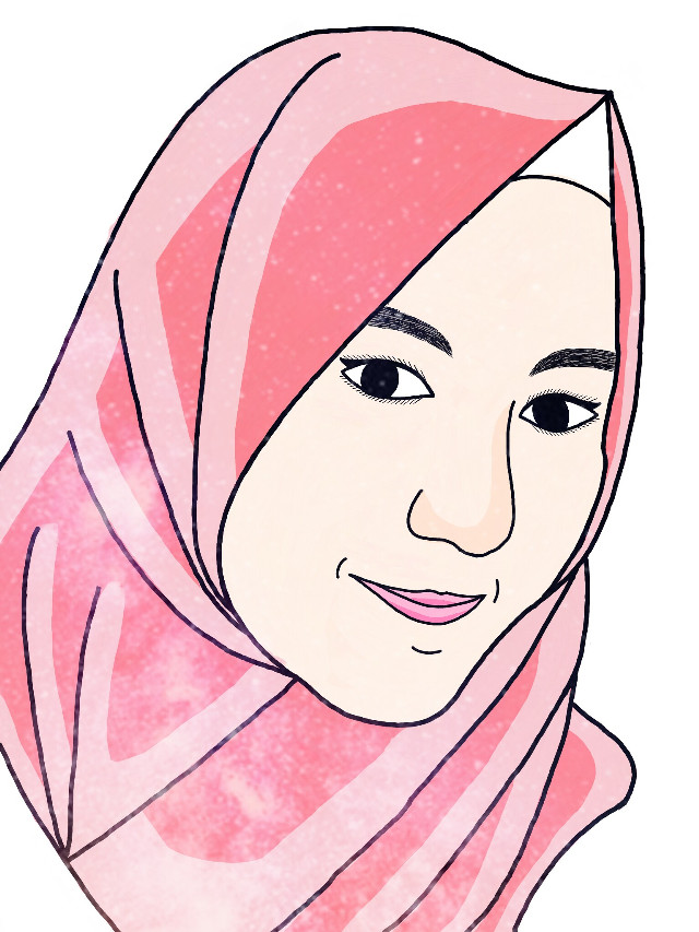 Girls hijab Ardelia again 😊 #outline #sketch #art #drawing #hijab #ilustration #indonesia