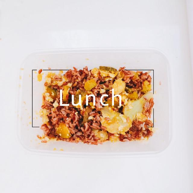 Lunch | Mix  ผัดฟักทองไข่ดอกคะน้า • ข้าวกล้อง #rroochaaphotography16 #eatclean