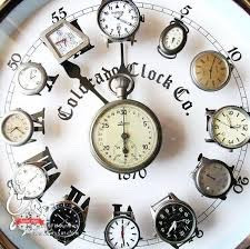 clock art colorful cute