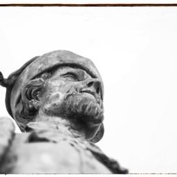 statue man blackandwhite