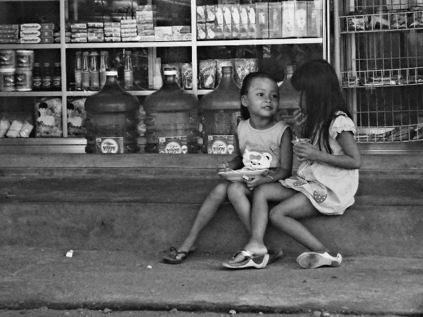 #friendship #children #blackandwhite  #indonesia